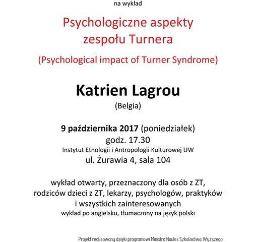 Psychologiczne aspekty zespołu Turnera - nagranie wykładu Katrien Lagrou